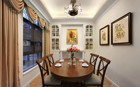 餐厅窗帘混搭风格装潢图片