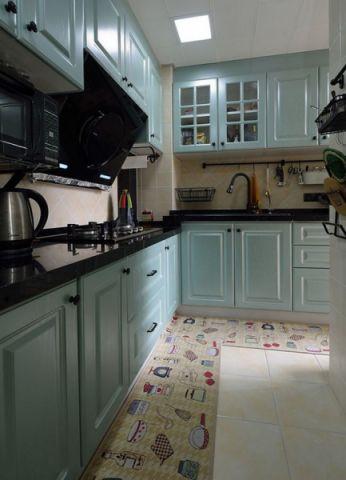 厨房背景墙田园风格装修效果图