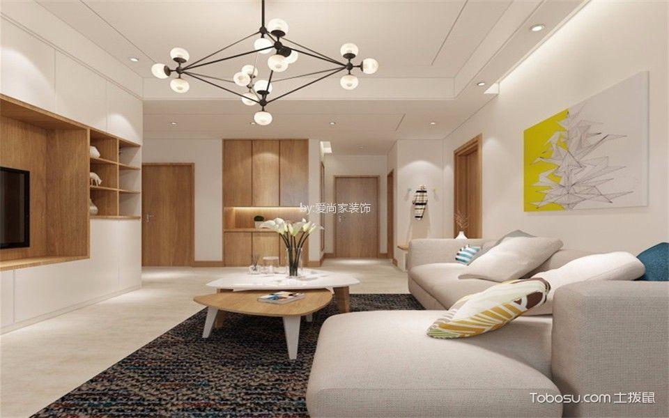9万预算123平米三室两厅装修效果图