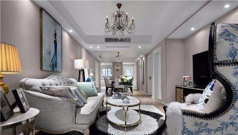 7.8万预算90平米三室两厅装修效果图