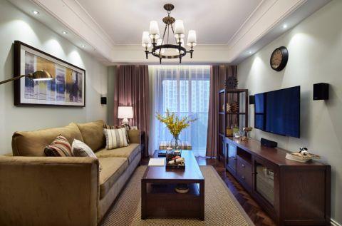 华盛达阅城90平美式风格二居室装修效果图