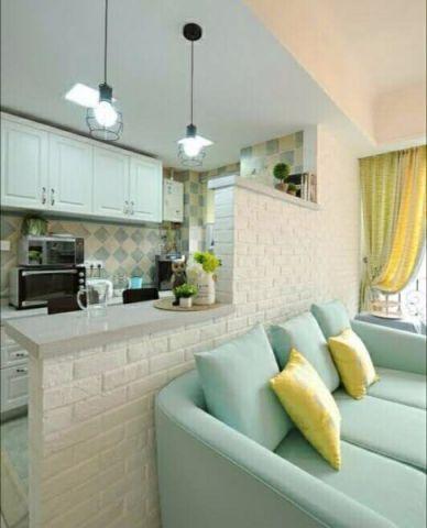 厨房吧台北欧风格效果图