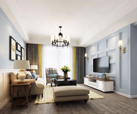 客厅窗帘北欧风格装修设计图片