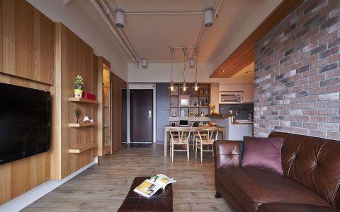 120平现代风格三居室装修实景图