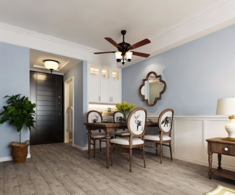 餐厅走廊美式风格装饰图片