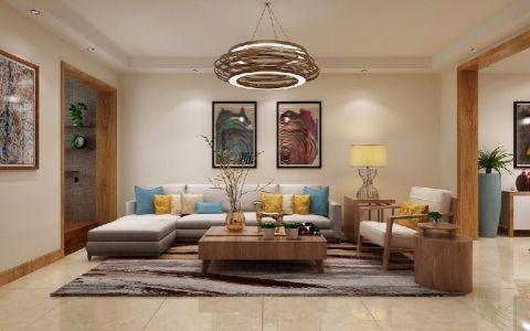 绿地新都会88平现代简约三居室装修效果图