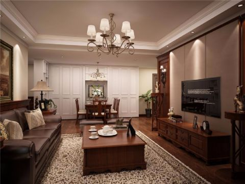 7.2万预算100平米三室两厅装修效果图