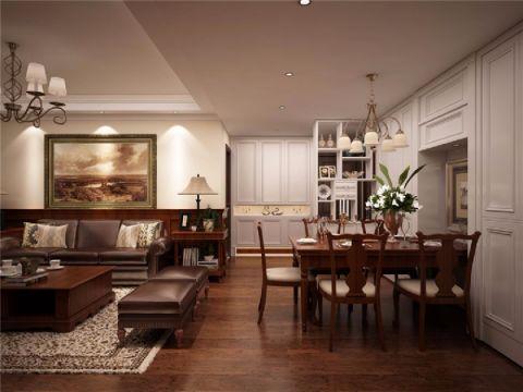餐厅走廊美式风格装潢设计图片