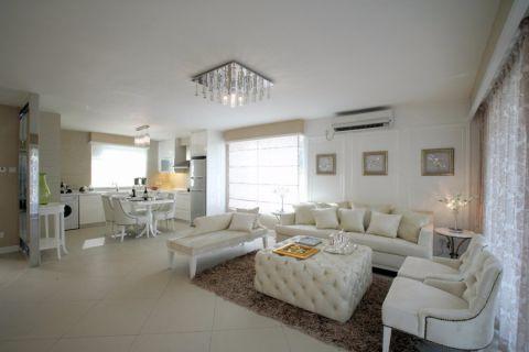 现代简欧白色沙发装饰效果图