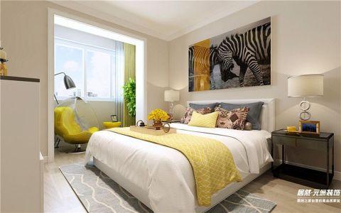 大运河孔雀城温莎郡116平米现代风格三居室装修效果图