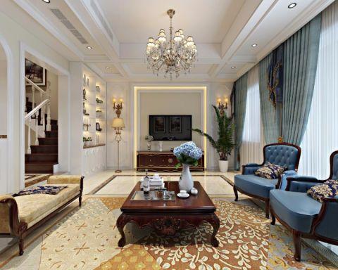 优雅白色客厅效果图