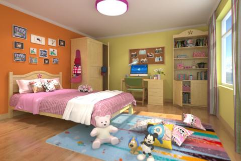2019简约儿童房装饰设计 2019简约背景墙装修设计
