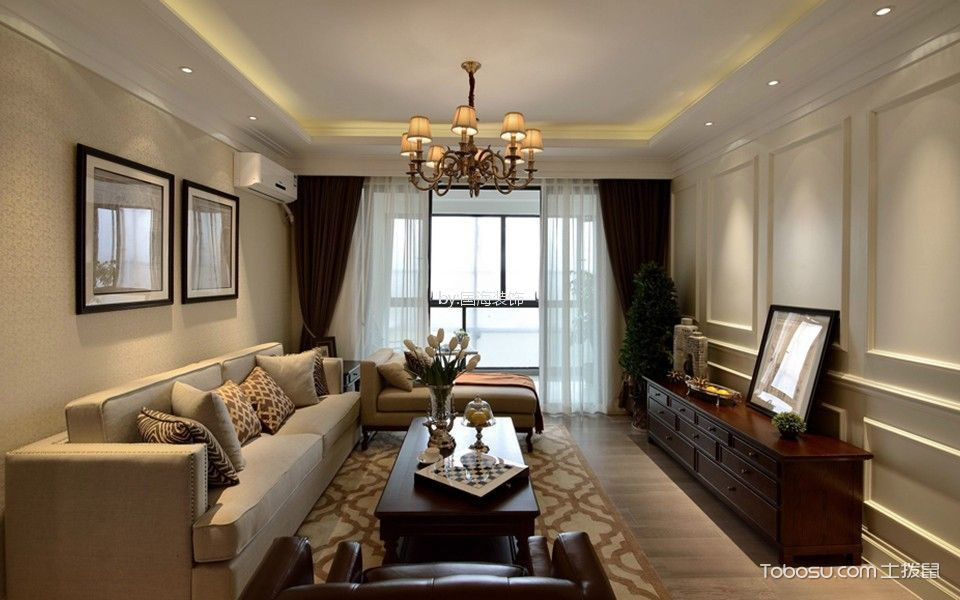 7.1万预算100平米三室两厅装修效果图