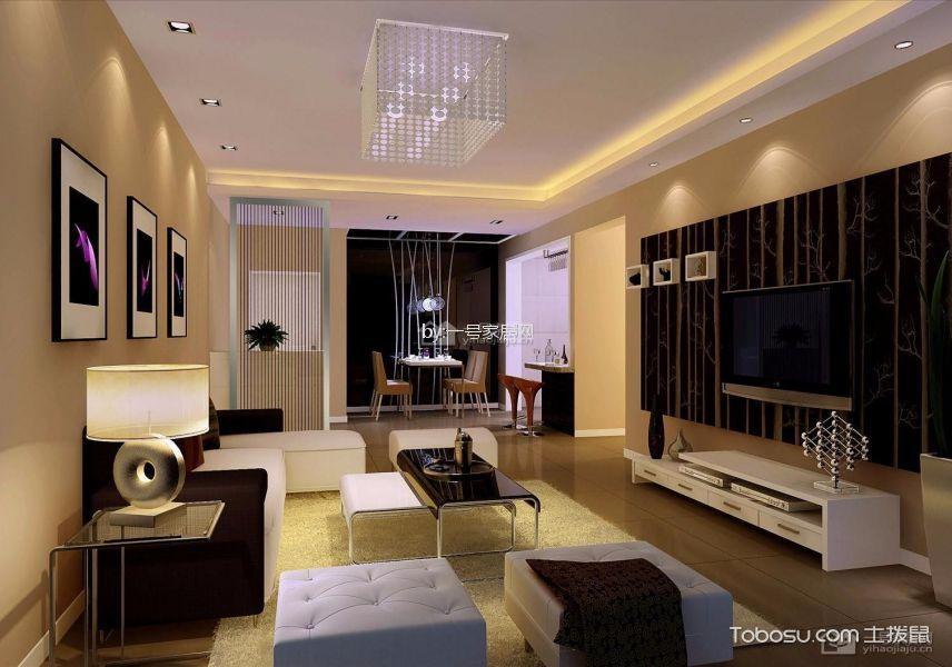 世豪瑞丽现代简约二房一厅清新装修效果图