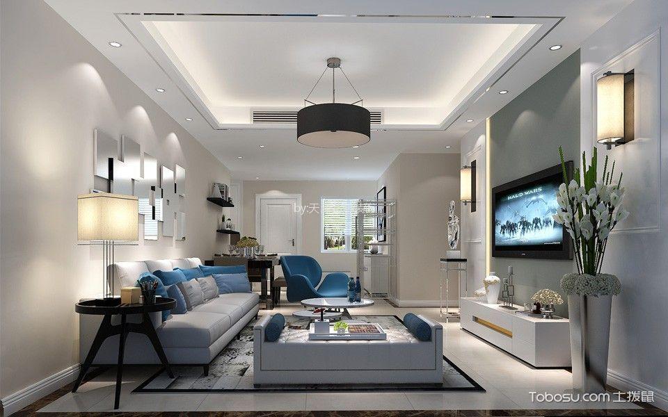 3.6万预算90平米两室两厅装修效果图