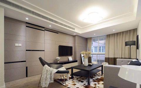 134平三居室现代简约风格装修效果图
