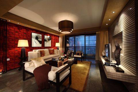 新文苑中式三居室装修效果图