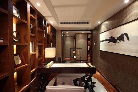 书房背景墙中式风格装饰效果图