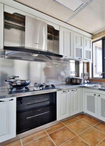 創意黃色二手房廚房裝修設計圖片