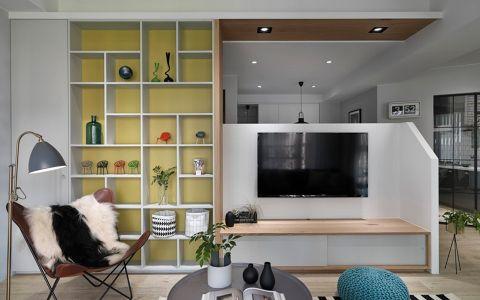 万达广场70平新中式风格二居室装修效果图