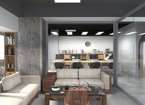 工艺风格办公室装修效果图