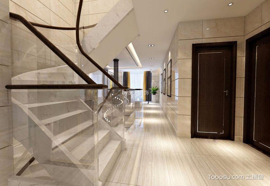 玄关白色楼梯现代风格装饰效果图