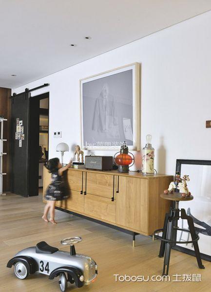 客厅黄色地板砖简约风格装修效果图