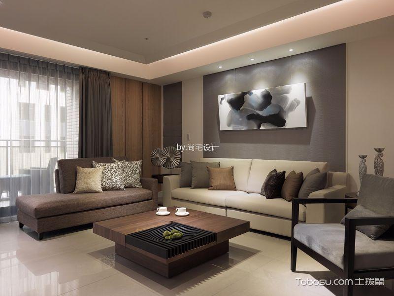 璞丽湾现代风格三居室装修案例