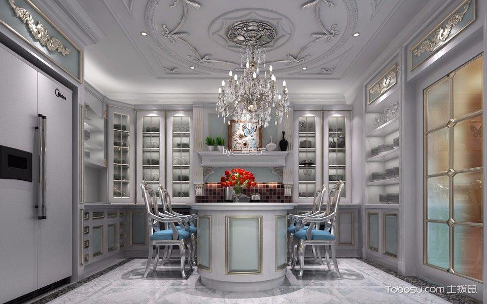 厨房 吧台_90万预算350平米别墅装修效果图