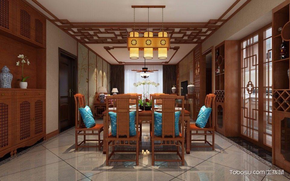 18万预算120平米三室两厅装修效果图