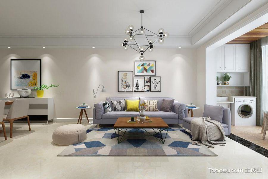 7.2万预算80平米两室两厅装修效果图