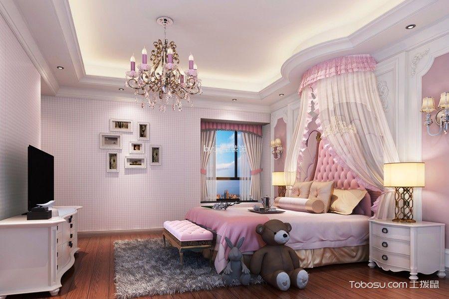 卧室粉色照片墙欧式风格装饰设计图片