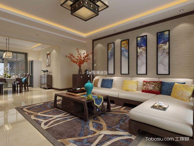 西安紫薇曲江意境120平米新中式风格效果图