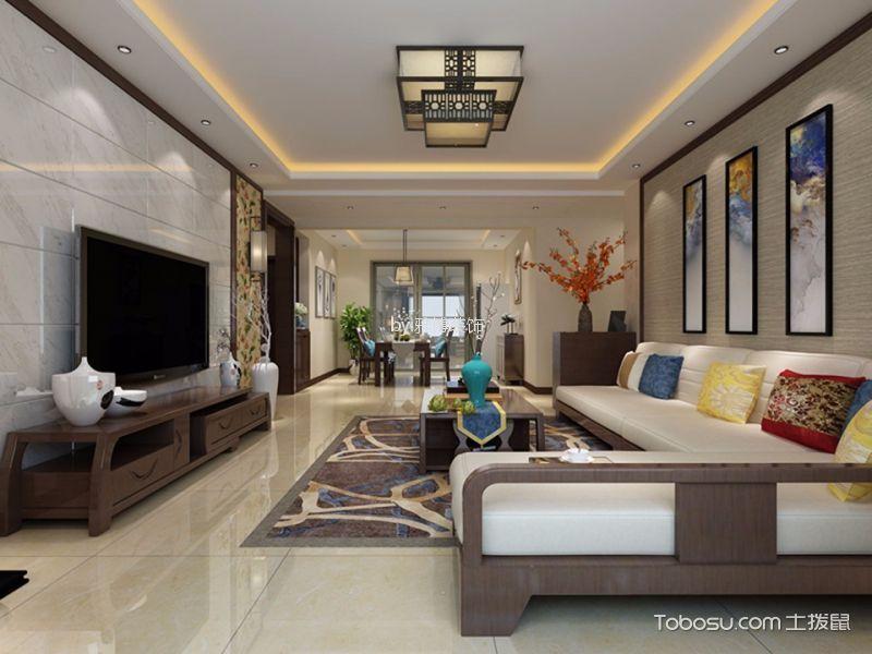 西安紫薇曲江意境100平米新中式风格效果图