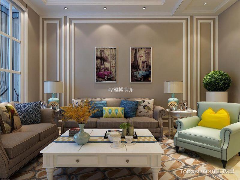 90平米美式风格两室两厅装修效果图