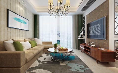 4万预算89平米两室两厅装修效果图