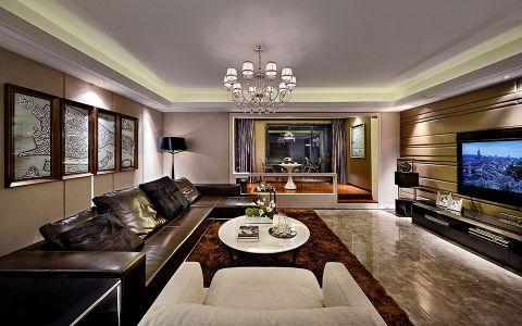 2018现代150平米效果图 2018现代三居室装修设计图片