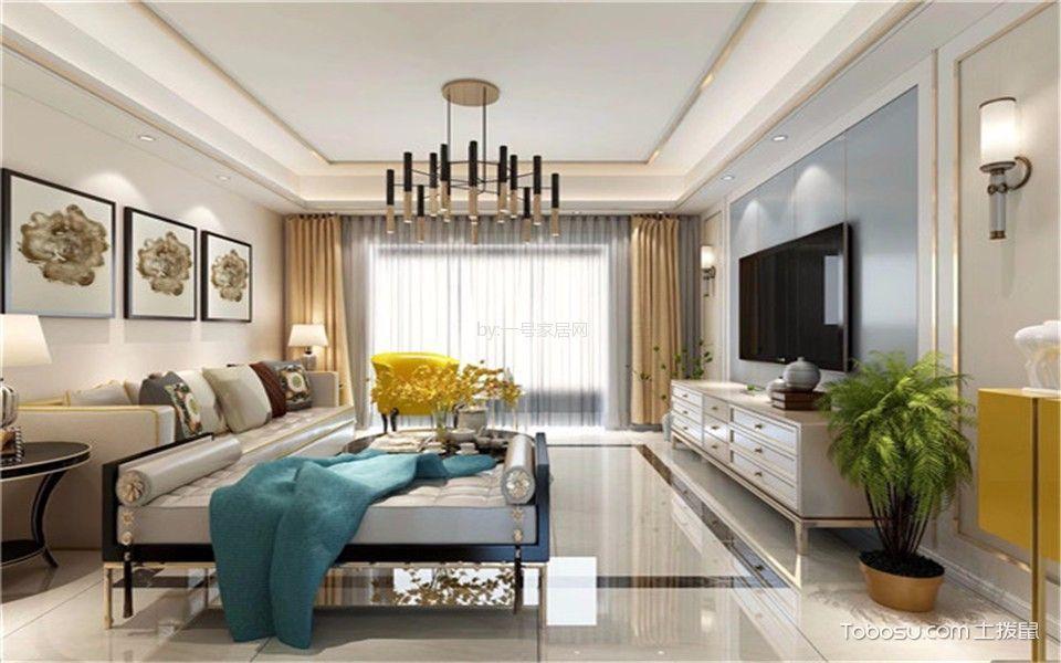 12万预算124平米三室两厅装修效果图