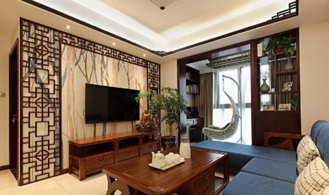 9.2万预算96平米三室两厅装修效果图