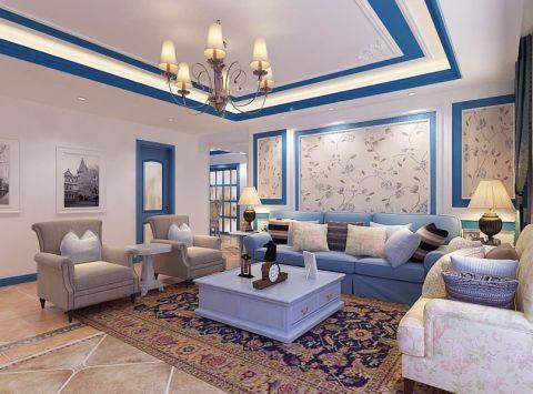 客厅吊顶地中海风格装修图片