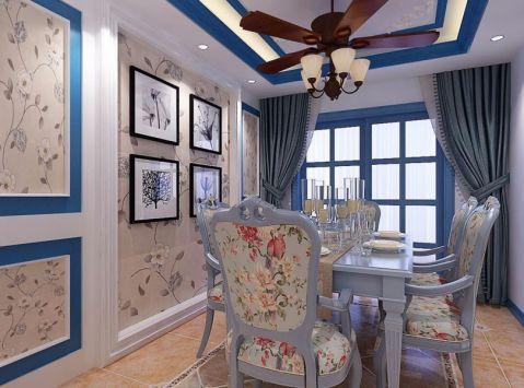 餐厅窗帘地中海风格装潢图片