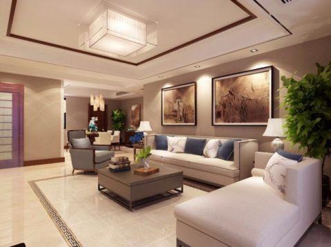 客厅照片墙新中式风格装潢设计图片
