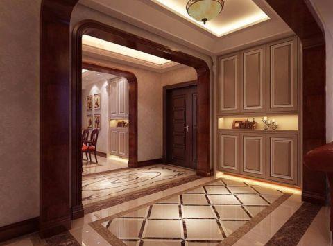玄关博古架欧式风格装修图片
