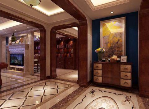 玄关背景墙欧式风格装潢图片