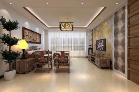 客厅走廊新中式风格装潢图片