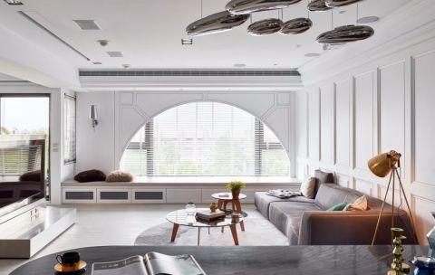 客厅窗台简约风格装饰图片