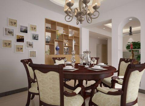 餐厅博古架现代简约风格装饰图片