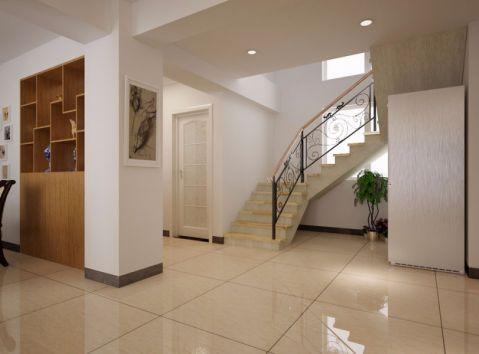 玄关楼梯现代简约风格装潢图片