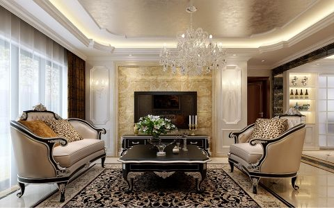 8.6万预算120平米三室两厅装修效果图