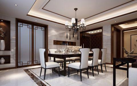 餐厅餐桌新中式风格装修效果图
